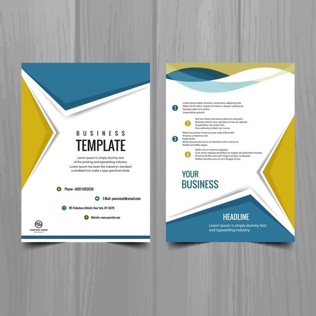 Modern brochure design Vector Free Download