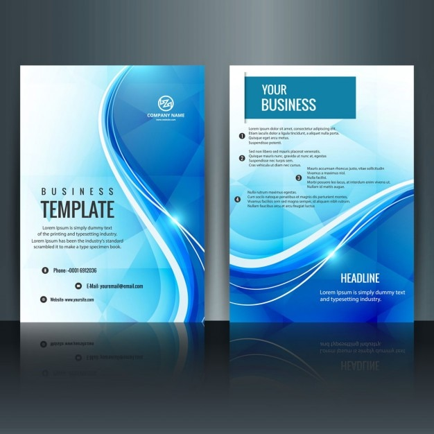 Modern brochure template Vector Free Download - Company Profile Template Word Format