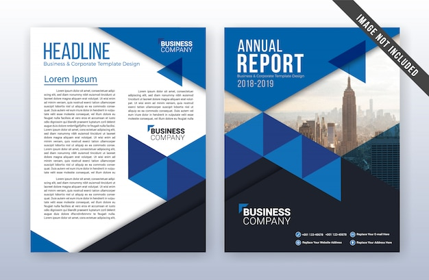 Modern business annual report template Vector Premium Download