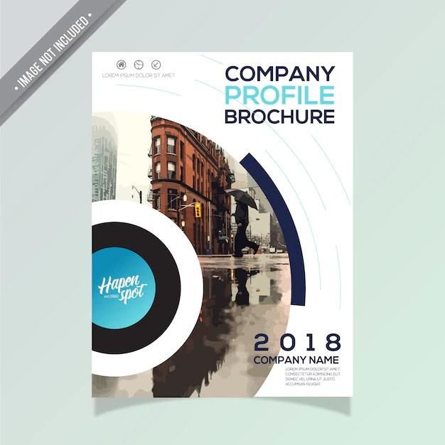 Modern business brochure design Vector Free Download