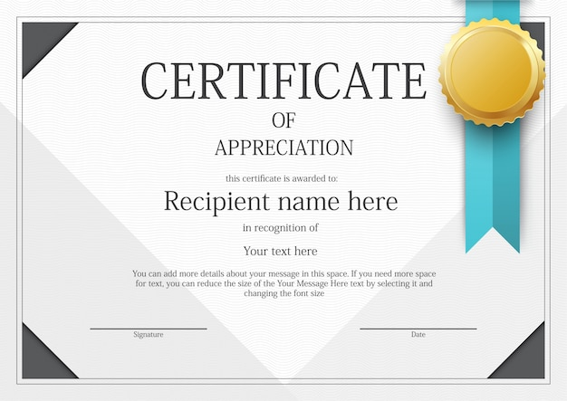 Modern Certificate border template Vector Free Download - Free Printable Certificate Border Templates