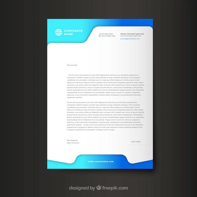 Modern corporate letterhead template Vector Free Download - corporate letterhead template