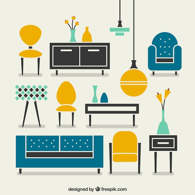 Cute Circle Wallpaper Modern Furniture Vector Free Download
