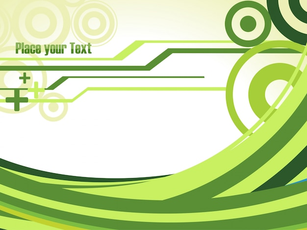 Modern green waves background Vector Free Download