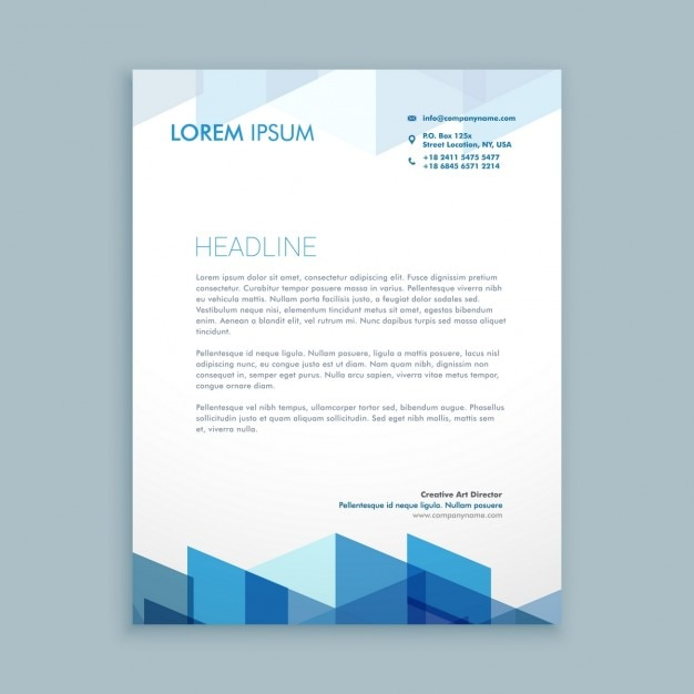 Modern letterhead template Vector Free Download - letterheads templates free download