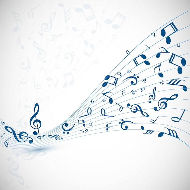 Modern music background Vector Free Download