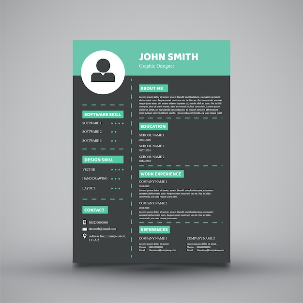 modern resume template design - Ozilalmanoof - resume templates for designers