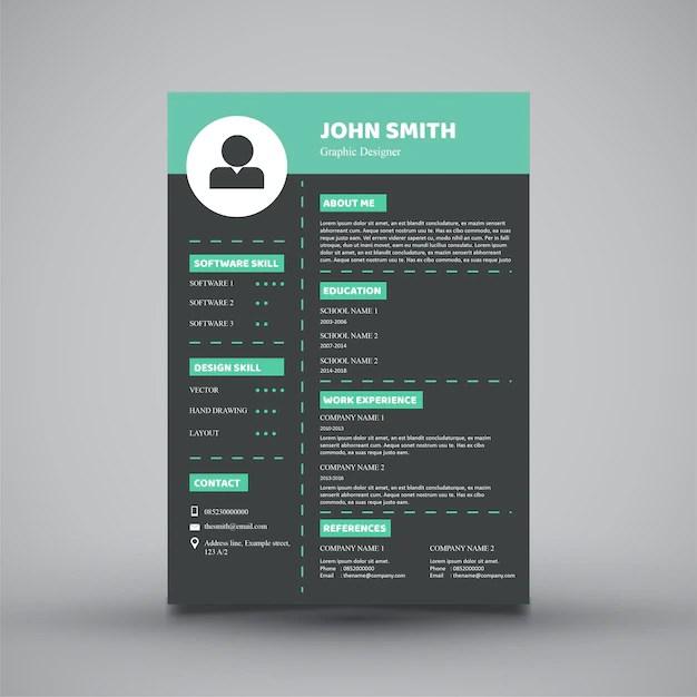 Modern resume template design Vector Premium Download - Modern Resume Templates