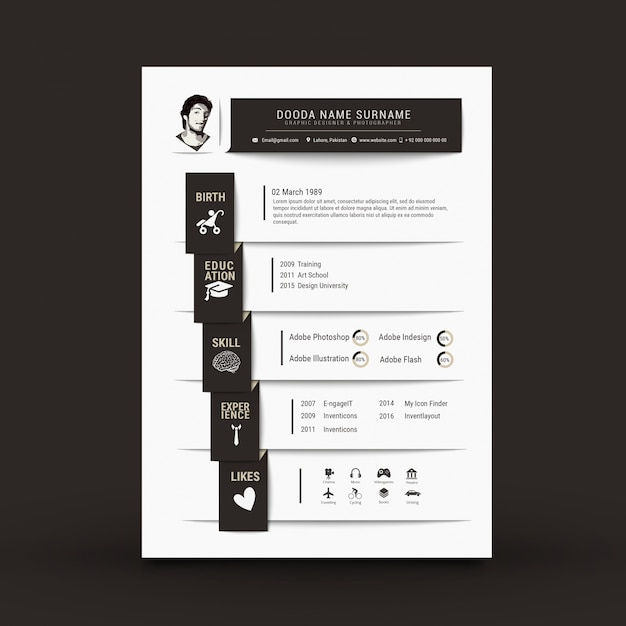 Resume Vectors, Photos and PSD files Free Download - graphic design resume templates