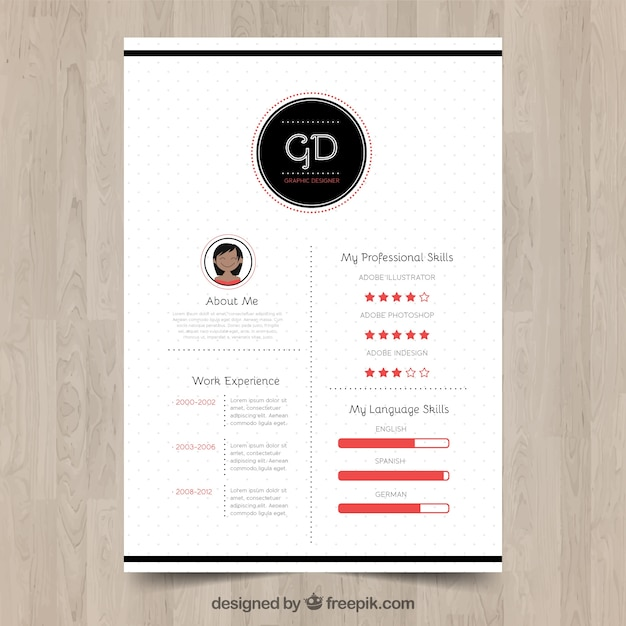 Modern resume template Vector Free Download - contemporary resume templates free