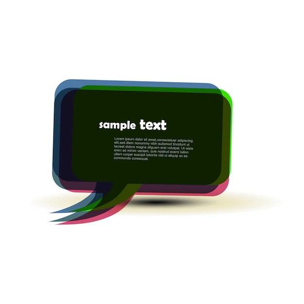 Modern speech bubble design Vector Free Download