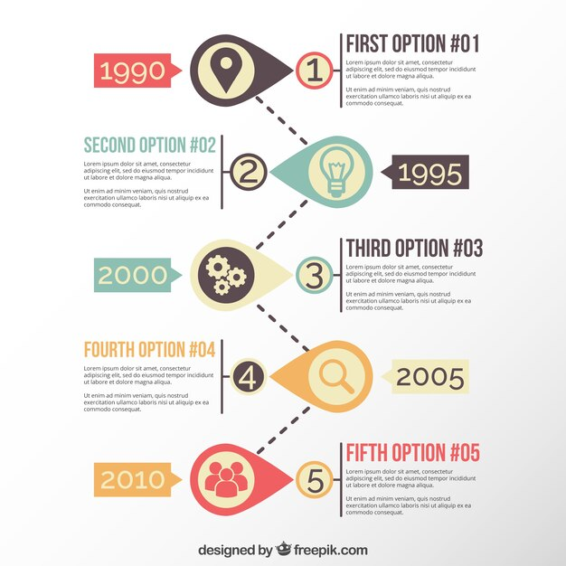 Modern timeline template Vector Free Download - timeline template