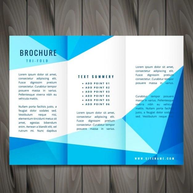 Modern trifold brochure design Vector Free Download - modern brochure design