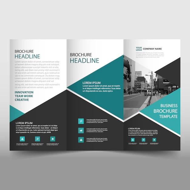 Modern trifold leaflet template Vector Free Download - leaflet template