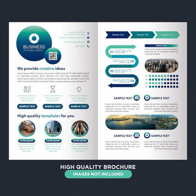 Modern two fold brochure for multipurpose Vector Premium Download - two fold brochure