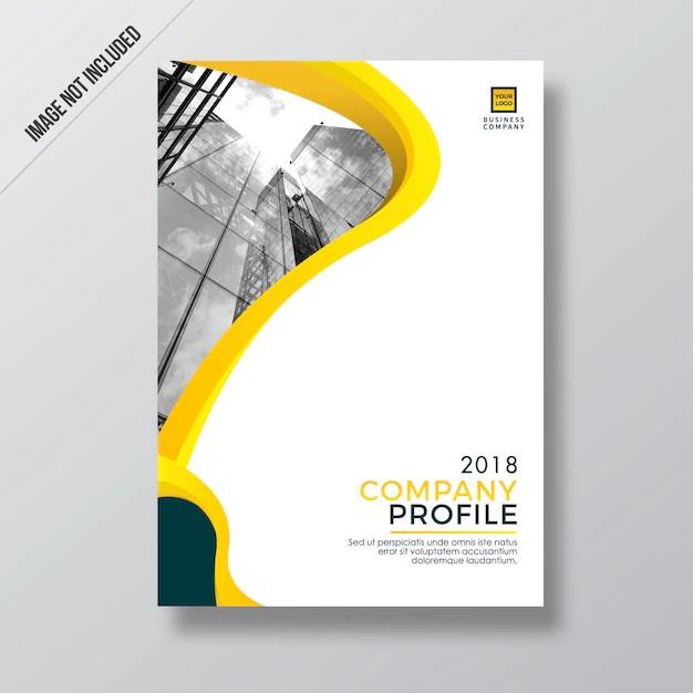 Modern yellow style design company profile template Vector Premium - profile company template