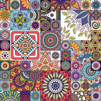 Moroccan pattern with mandalas Vector | Free Download