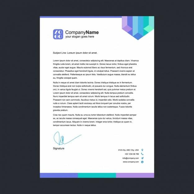 Multicolor letterhead template Vector Free Download