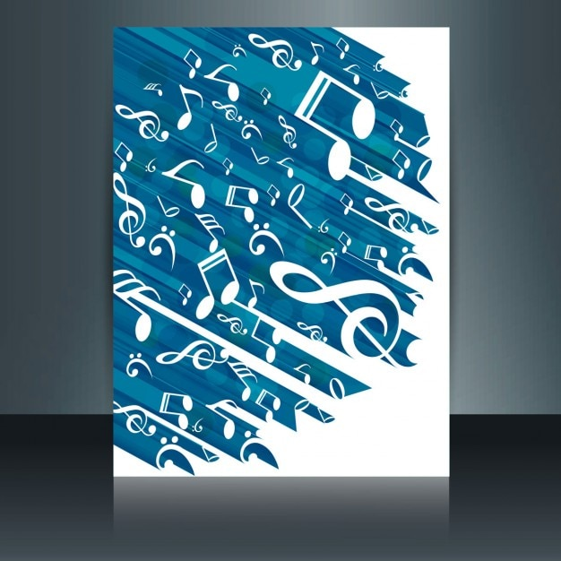 Music brochure Vector Free Download