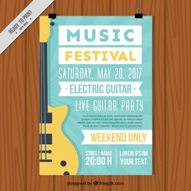 music brochure template