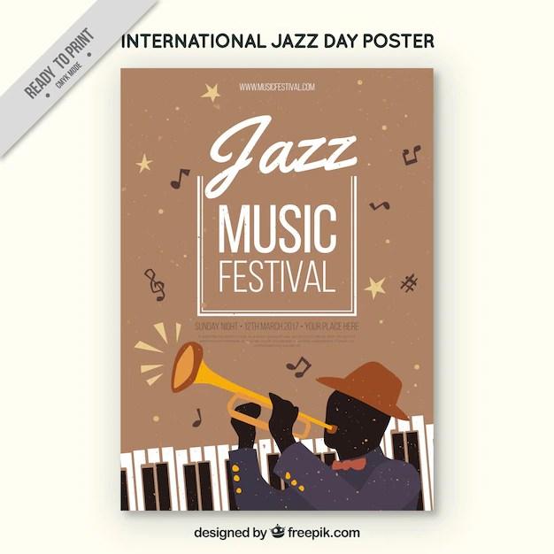 Music festival brochure Vector Free Download