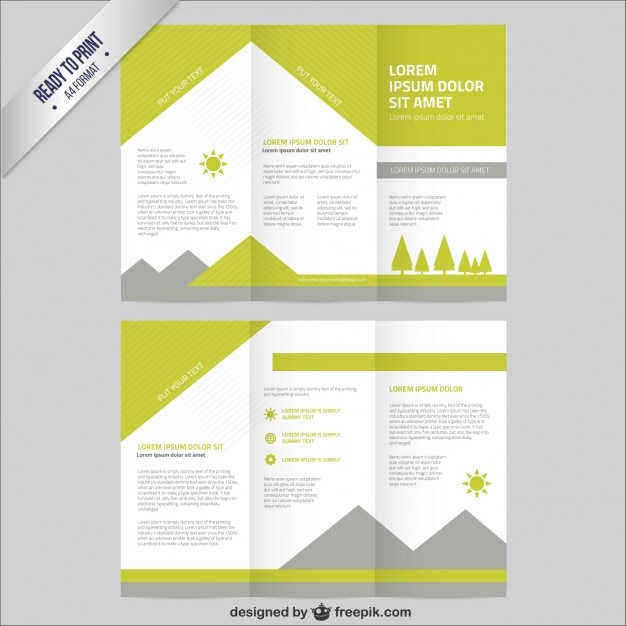 Nature brochure template Vector Free Download - pricing brochure template