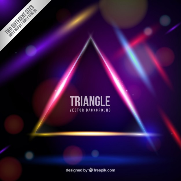 New Year Wallpapers 3d Neon Triangle Background Vector Free Download