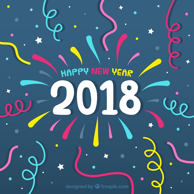 new year 2018 background vector free download