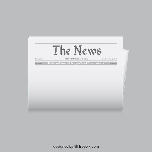 Newspaper template Vector Free Download - news paper template