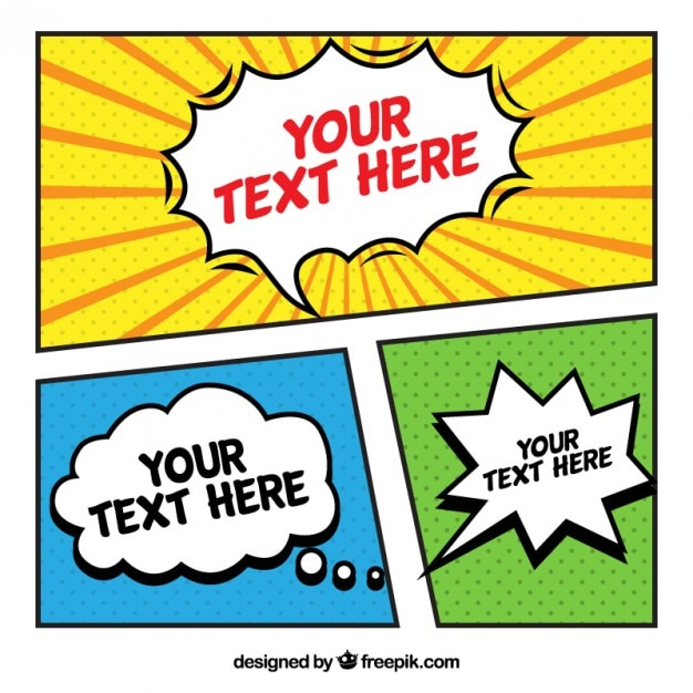 Nice comic template Vector Free Download - Nice Templates