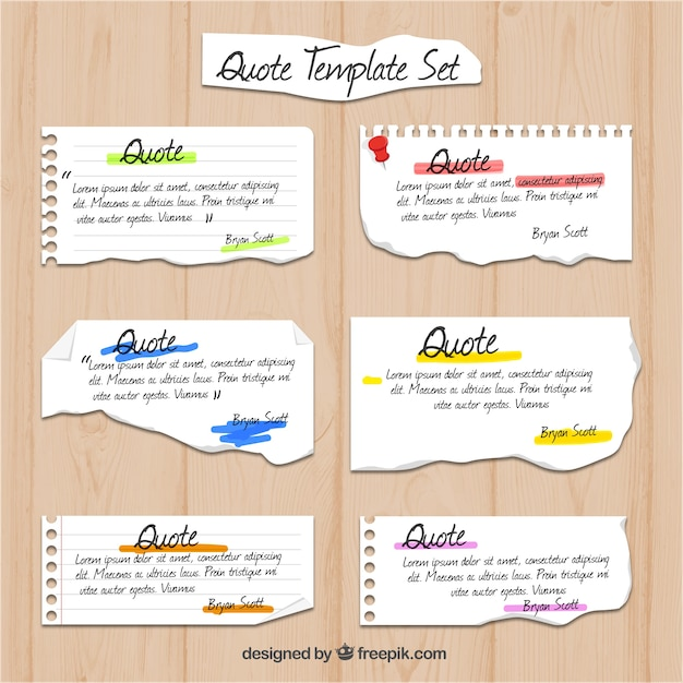 Notebook paper quote templates Vector Free Download - notebook paper download