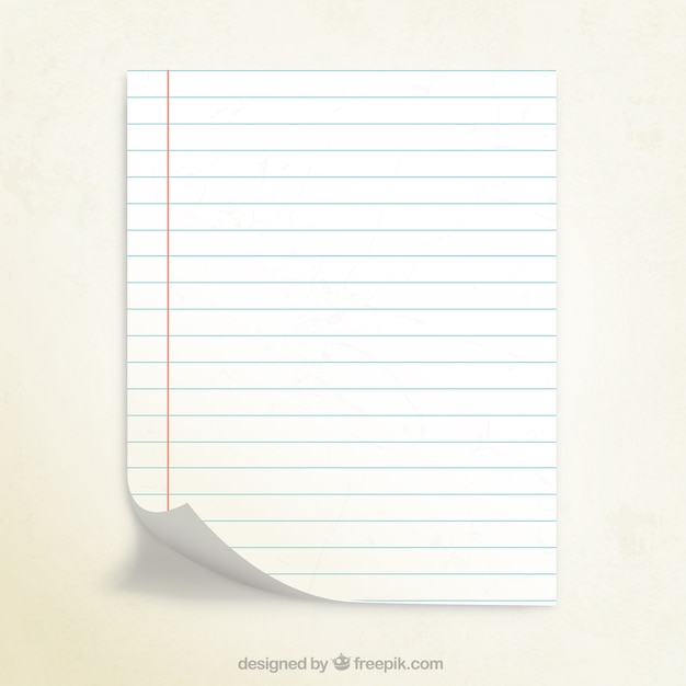 Notebook paper Vector Free Download - notebook paper download