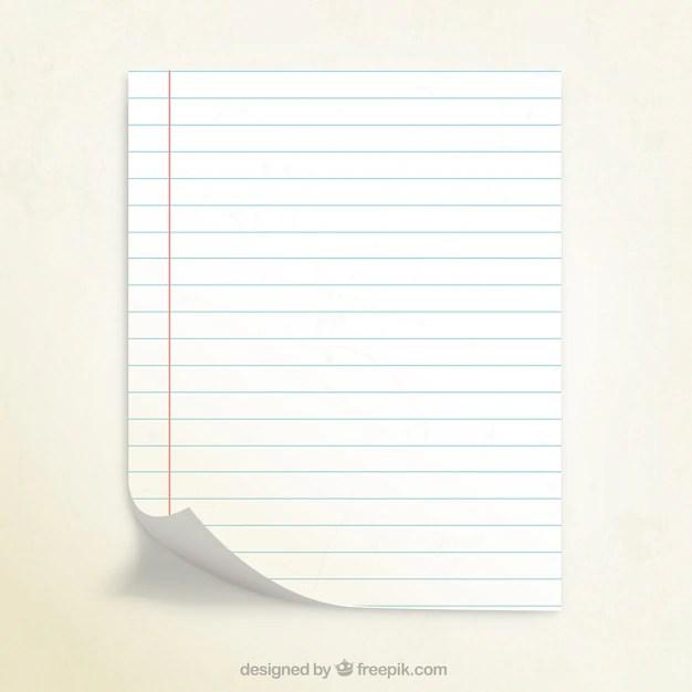 Notebook paper Vector Free Download