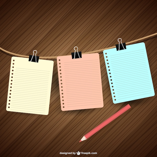Notebook papers hanging Vector Free Download - notebook paper download