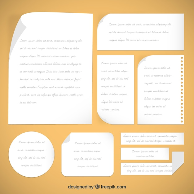 Notes template Vector Free Download