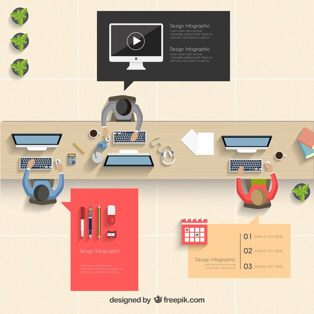 Office infographic Vector Free Download