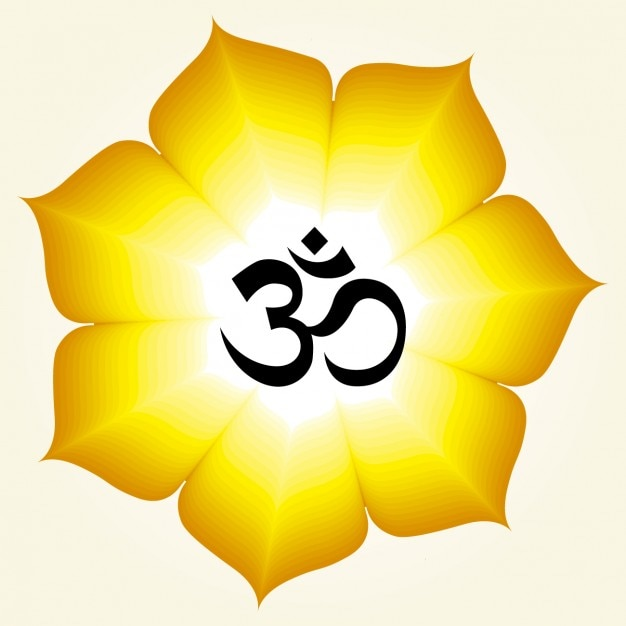 Om 3d Wallpaper Download Om Symbol On A Yellow Flower Vector Free Download