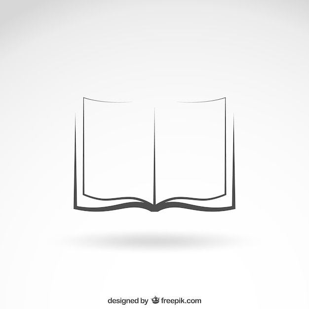 Open book icon Vector Free Download - opened book