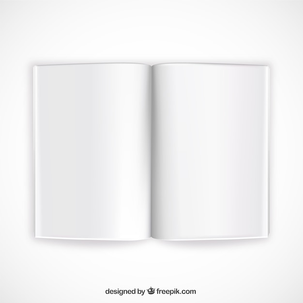 Opened book mockup Vector Free Download - opened book
