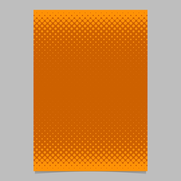 Orange abstract halftone dot pattern brochure template - vector