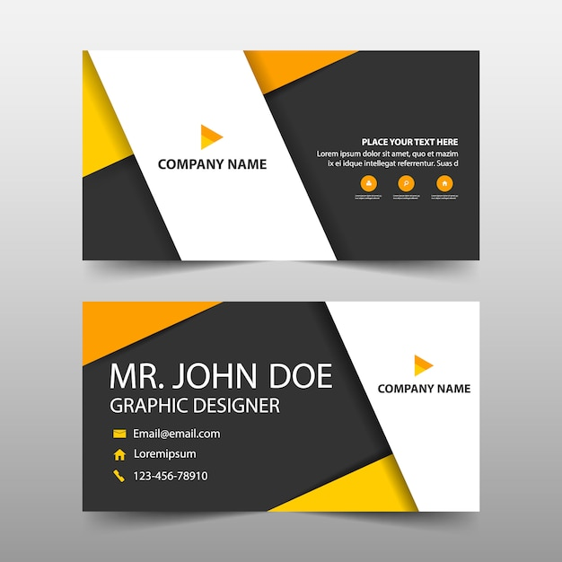 Orange corporate business card template Vector Free Download - Buisness Card Template