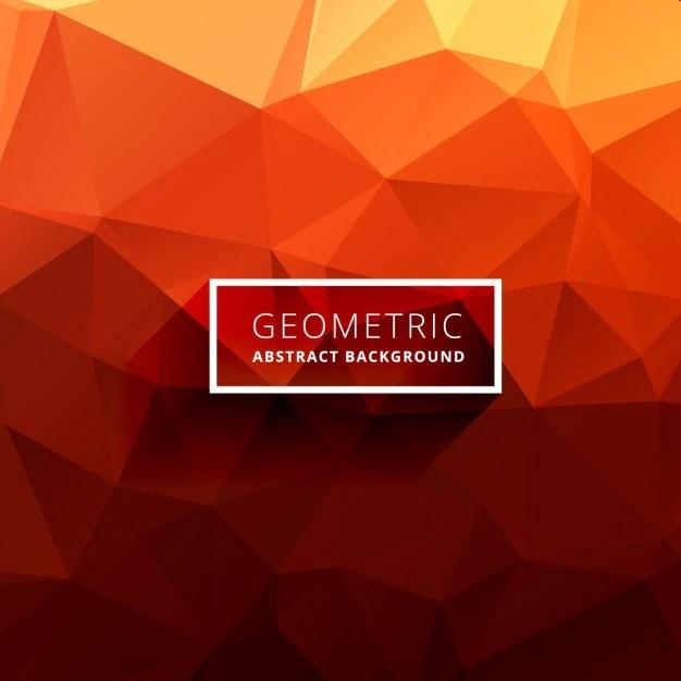 Free Download Wallpaper 3d Graphic Orange Polygonal Background Vector Free Download