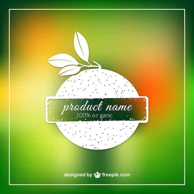 Organic product label template Vector Free Download - abel templates psd