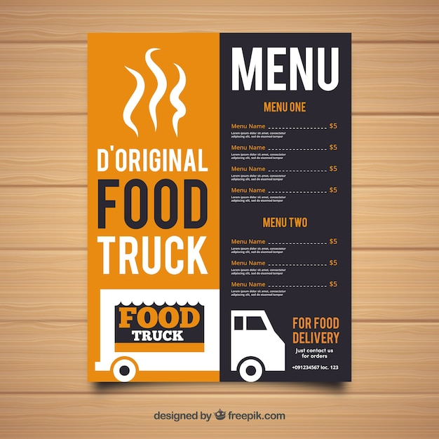 Original food truck menu template Stock Images Page Everypixel