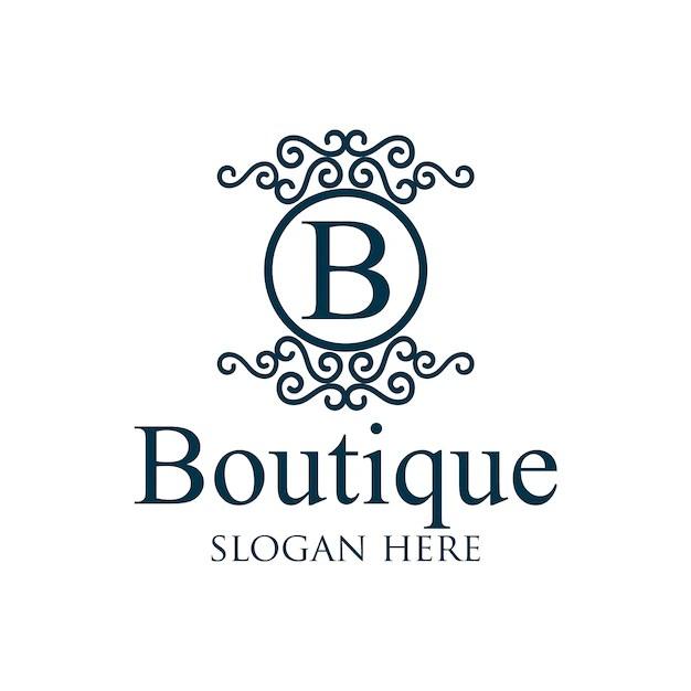 Ornamental boutique logo Vector Premium Download