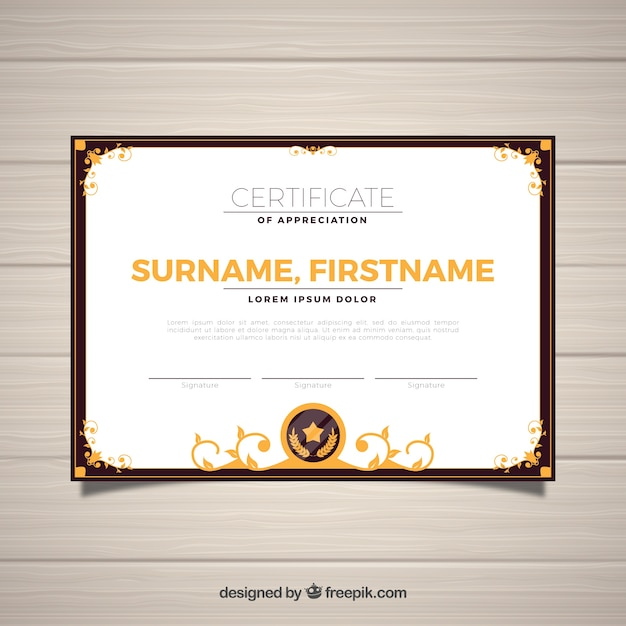 Ornamental certificate border template Vector Free Download - Free Printable Certificate Border Templates