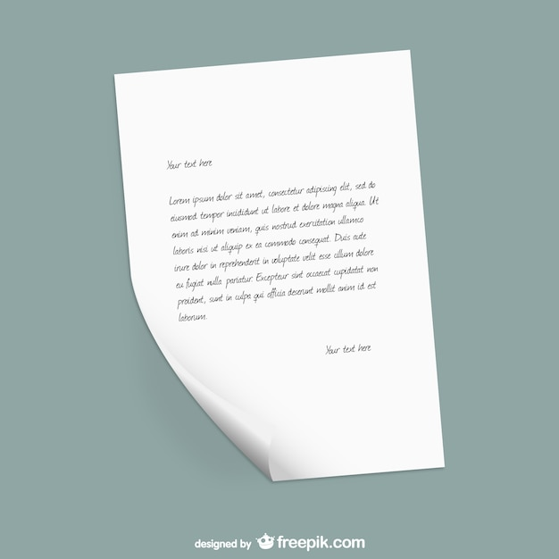 Paper letter template Vector Free Download