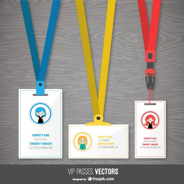 Pass templates pack Vector Free Download