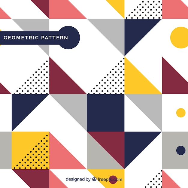 Pattern of geometric colored shapes Vector Free Download