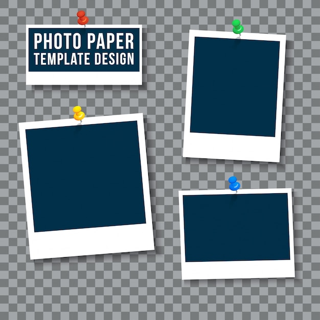 Photo paper template Vector Free Download